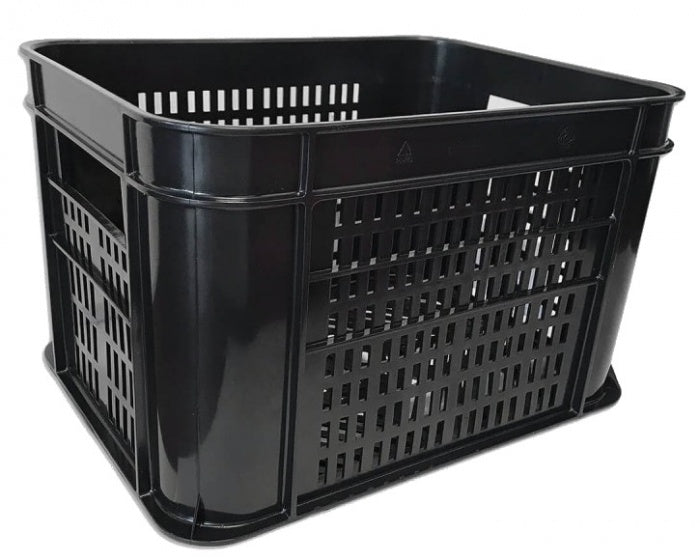 bicycle crate plastic 30 litres black