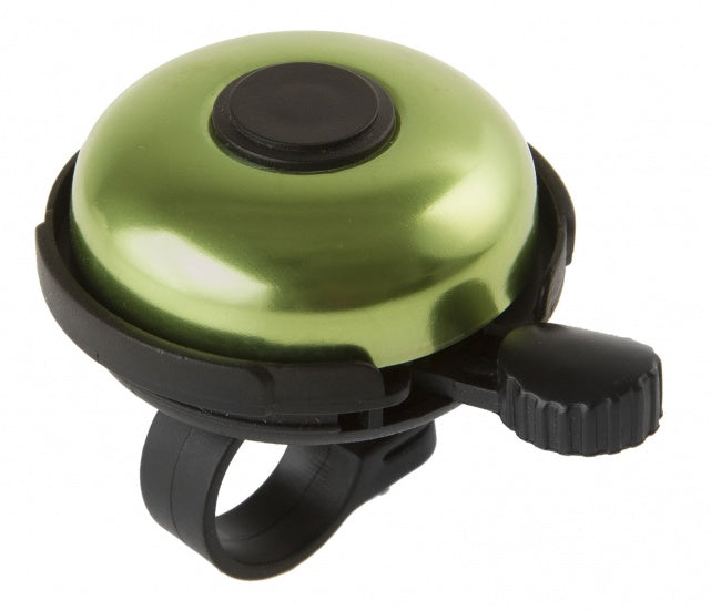 Bicycle bell Aluminum 53 mm Black With Green
