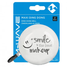 bicycle bell ding-dong Smile 80 mm white