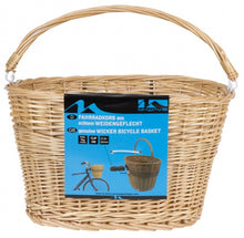 bicycle basket reed 27 liters brown