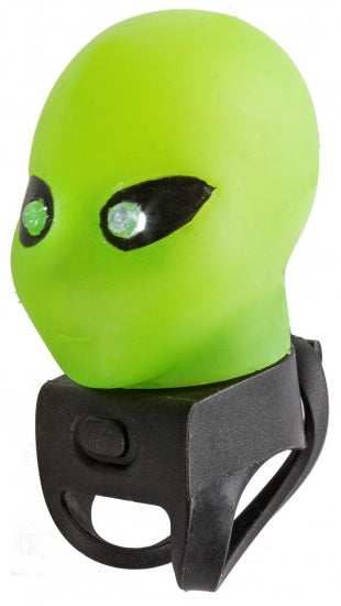 Alien Bike Horn with LED light green