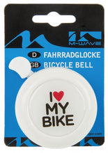 Steel Bicycle bell 3D Picture I Love My Bike White