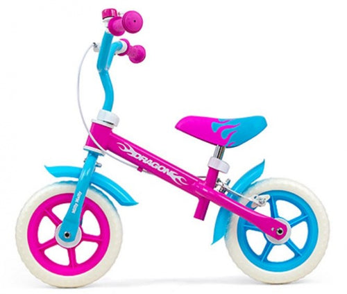 Milly Mally Loopfiets Dragon 10 Inch Junior Caliper Pink/Blue