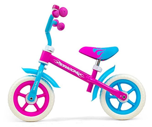 Milly Mally Loopfiets Dragon 10 Inch Junior Pink/Blue