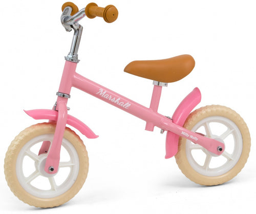 Milly Mally Loopfiets Marshall 10 Inch Junior Freewheel Pink/Cream