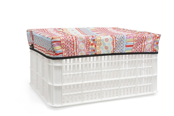 crate Arabellacover 40 x 30 x 8 cm multicolor