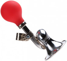 bicycle horn Post horn 17 cm silver/red