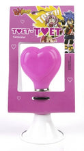 bicycle horn hearts 14 cm steel white/pink