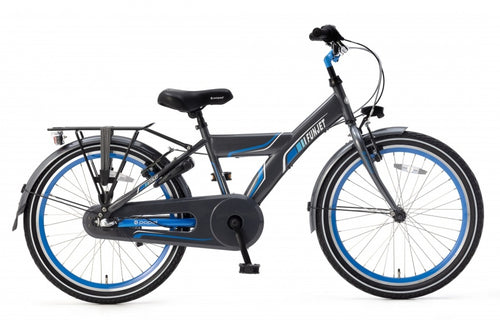 Popal Funjet N3 22 Inch 34 Cm Boys 3Sp Coaster Brake Blue/Grey
