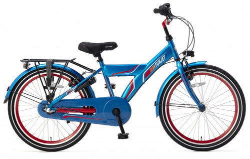 Popal Funjet N3 22 Inch 34 Cm Boys 3Sp Coaster Brake Blue/Red