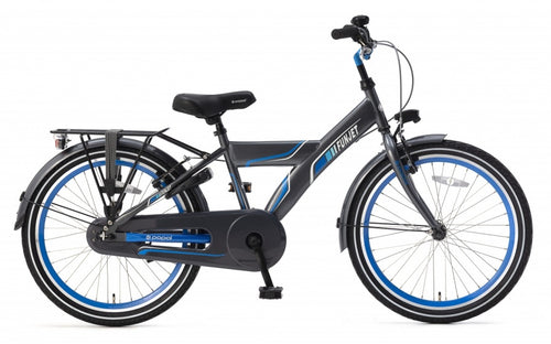 Popal Funjet X 22 Inch 34 Cm Boys Coaster Brake Blue/Grey