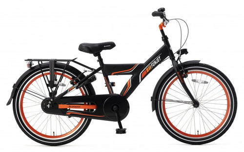 Popal Funjet X 22 Inch 34 Cm Boys Coaster Brake Black/Orange
