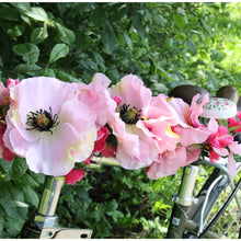 Pink flowers for bike handlebars
