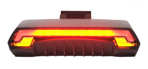 taillight with direction indicators and laser