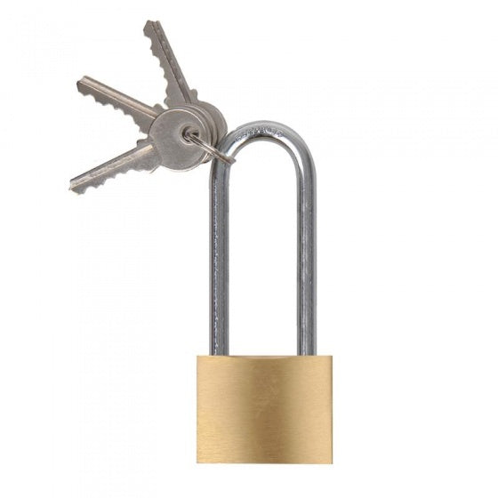padlock 40 mm with long bracket 75 mm gold