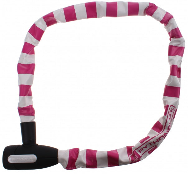 Chain lock 90 cm white / pink