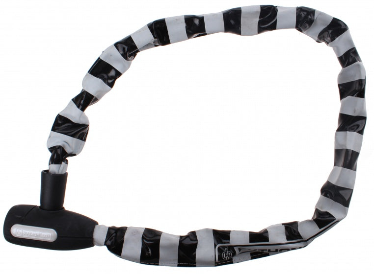 Chain lock 90 cm white / black