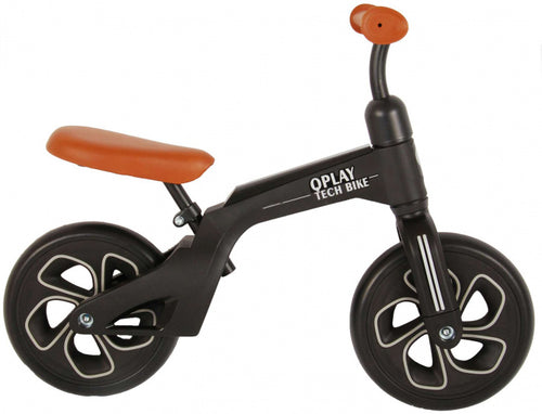 Qplay Loopfiets Tech 10 Inch Junior Brown/Black