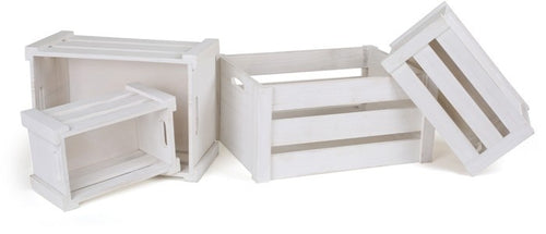wooden crates white 4 pieces
