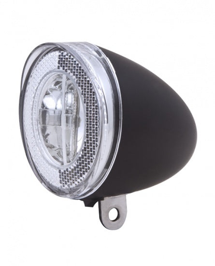Battery LED headlight Swingo XB black reflection