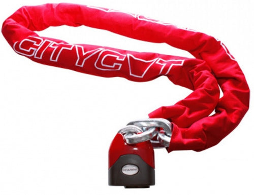 Chainlock Citycat with nylon cover 1200 x 12.5 mm red