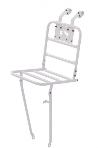 front carrier 26/28 inch steel white
