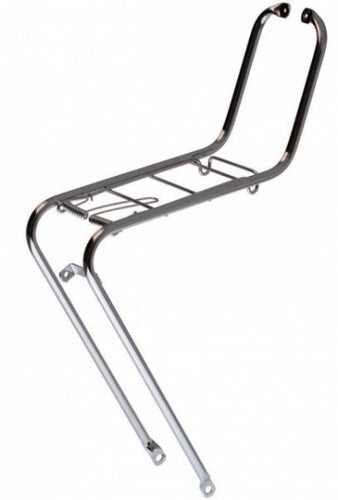 front carrier 26/28 inch steel silver gray