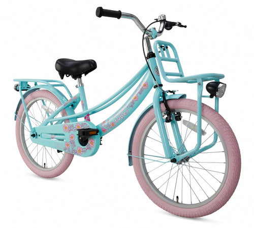 Supersuper Lola 20 Inch 31,75 Cm Girls Rim Brakes Light Blue/Pink