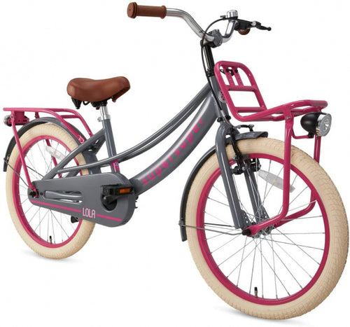 Supersuper Lola 20 Inch 31,75 Cm Girls Rim Brakes Pink/Grey