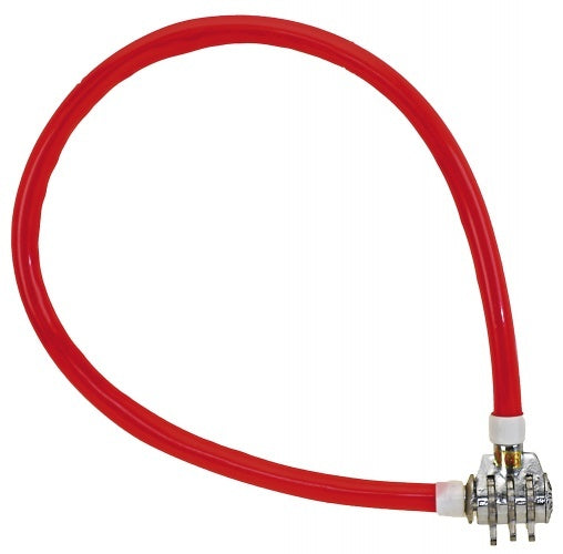cable lock digit combination 500 x 10 mm red