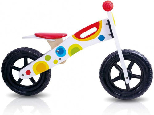Tooky Toy Loopfiets Tooky Toy Junior White/Multicolor
