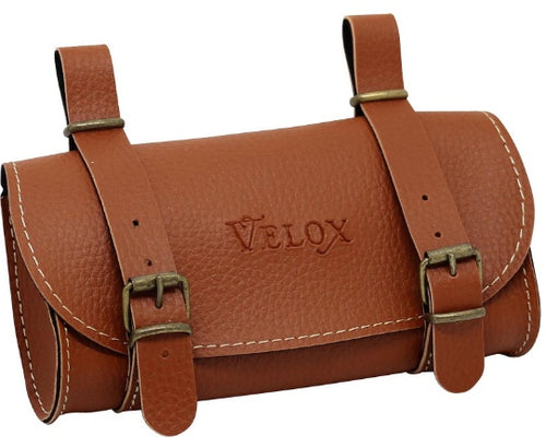 saddlebag Vintage 0,6 liter skai-leather 17cm light brown