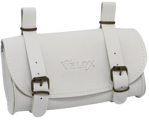 saddlebag Vintage 0,6 liter skai-leather 17cm white