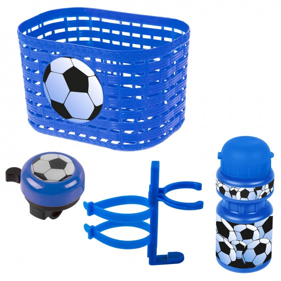 accessory set Voetbalboys blue / white 4-piece