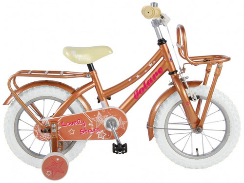 Volare Lovely Stars 14 Inch 23,5 Cm Girls Coaster Brake Gold/White