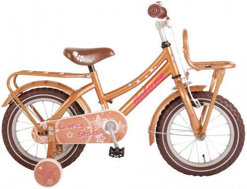 Volare Lovely Stars 14 Inch 23,5 Cm Girls Coaster Brake Gold/Brown