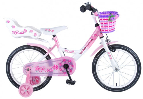 Volare Rose 16 Inch 25,4 Cm Girls Coaster Brake White/Pink