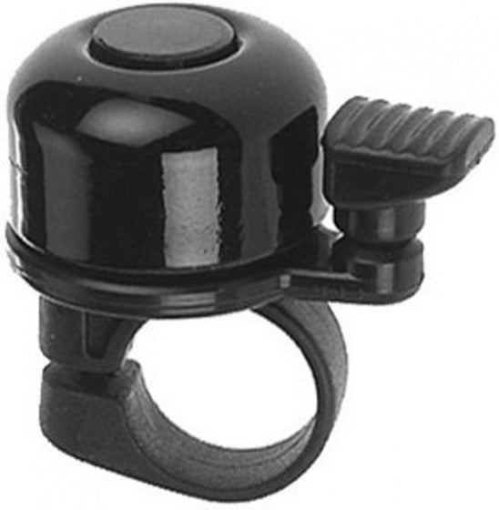 bicycle bell with spring spoon black