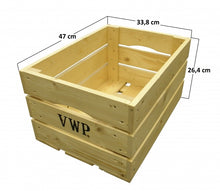bicycle crate wood natural 40 litres