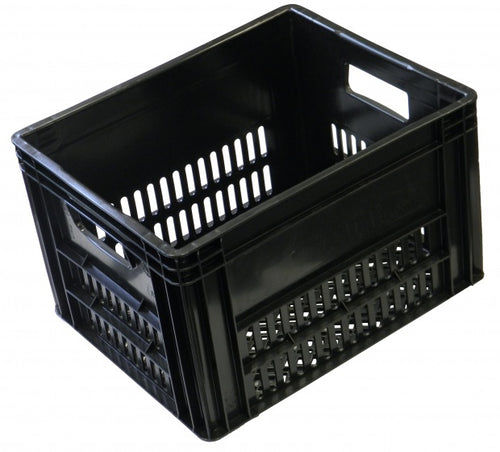 bicycle crate black 40 liter