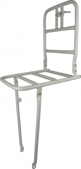 front carrier 26 inch aluminum white