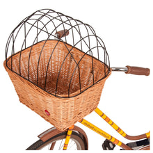 Front handlebars bike basket for pet cat dog