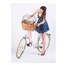 cat or dog bike basket with cage cover