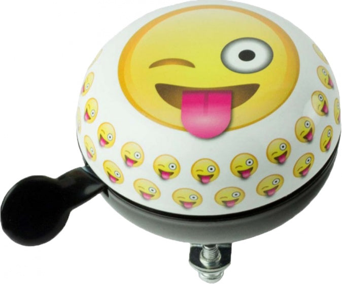 bicycle bell  Emoticon Crazy white/grey/yellow 80 mm