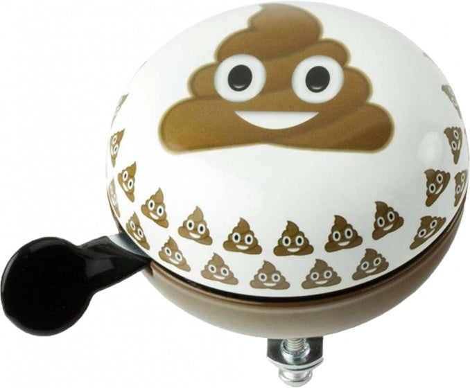 bicycle bell Emoticon Poo 80 mm white / brown