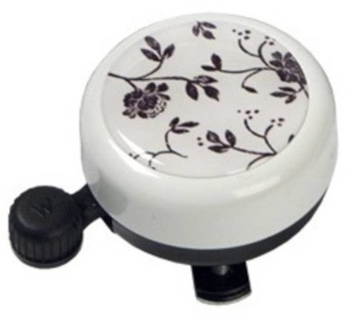 bicycle bell White Collection flower 55 cm white