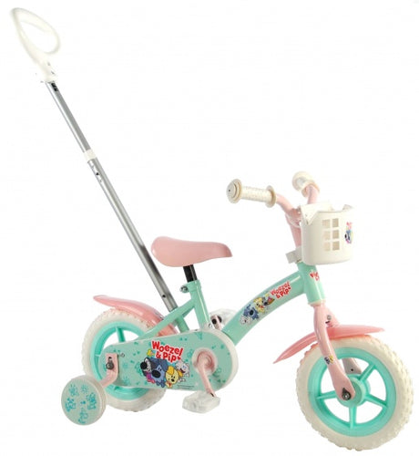 Woezel & Pip Meisjesfiets 10 Inch 18 Cm Girls Fixed Gear Green/Pink