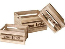 Set of Wooden Boxes - Rustic