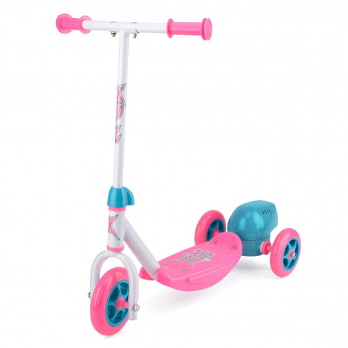 Xootz 3-Wiel Kinderstep Bubble Scooter Girls Foot Brakes