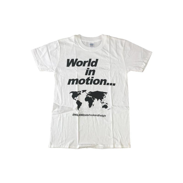 World In Motion White Mens T-Shirt
